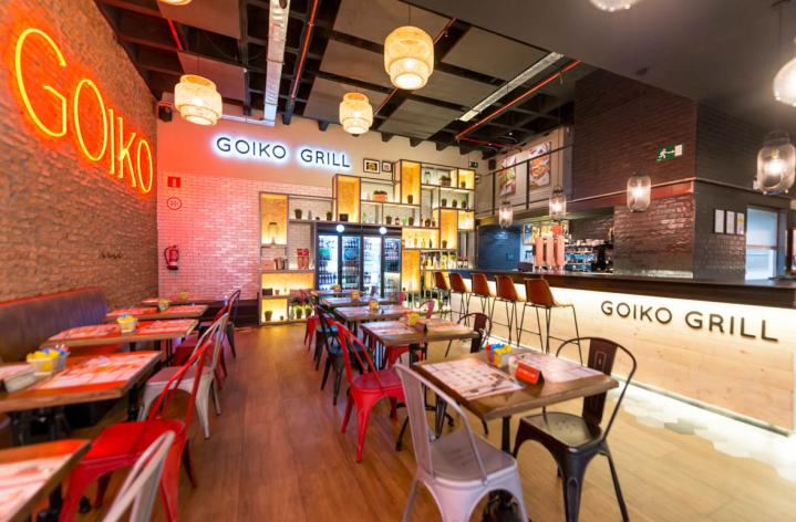 Interior hamburguesería Goiko Grill