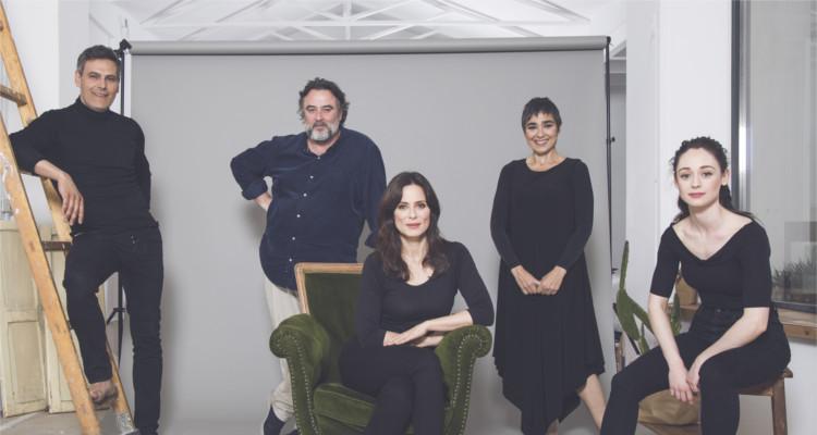 Actores de La Vuelta de Nora que se representará en el Gayarre el próximo 10 de febrero